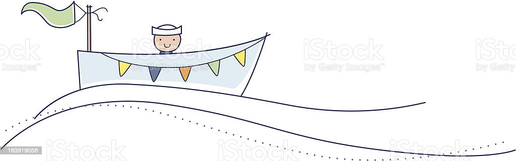 Row your boat baby boy illustration royalty-free stock vector art