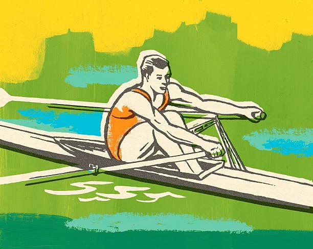illustrations, cliparts, dessins animés et icônes de aviron - sports de pagaie