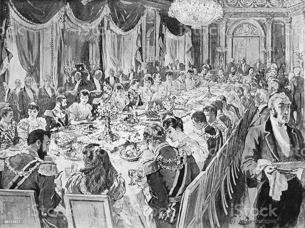 Royal Wedding Breakfast royalty-free royal wedding breakfast stock vector art & more images of antique