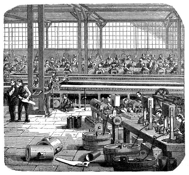 ilustrações, clipart, desenhos animados e ícones de fábrica de borracha - molduras decorativas