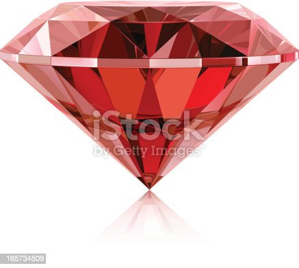 Vector illustration of classic ruby. Includes CDR (CorelDraw) and AI (Adobe Illustrator) versions.