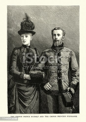 istock Rudolf, Crown Prince of Austria and his wife Princess Stephanie 1144543598