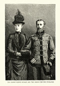 Rudolf, Crown Prince of Austria and his wife Princess Stephanie