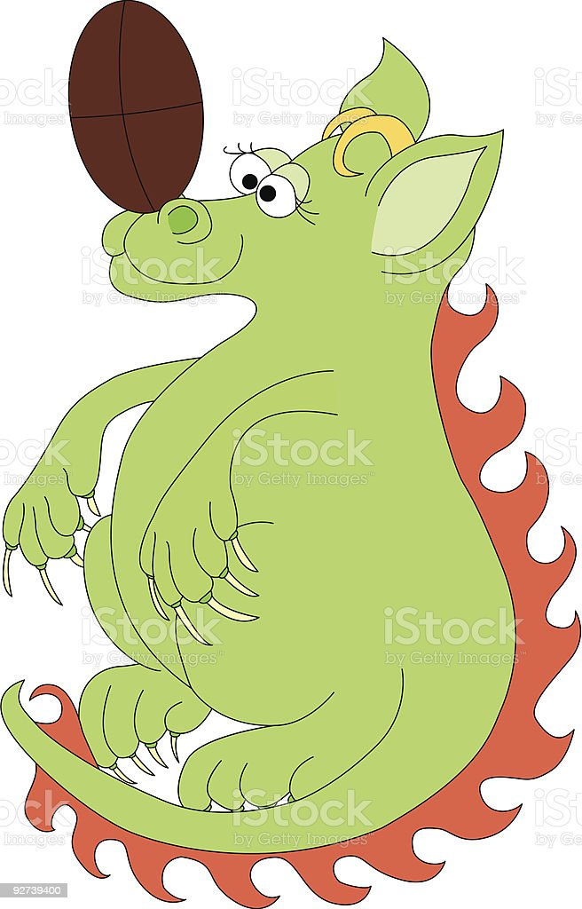 Rugby Dragon royalty-free stock vector art
