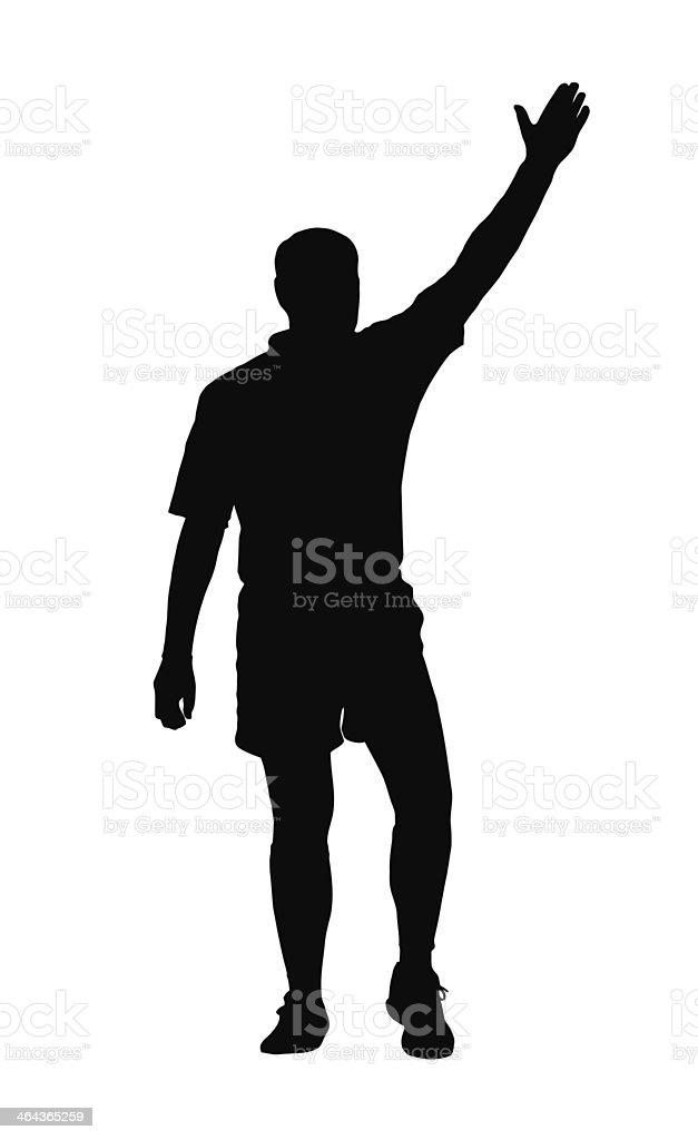 Rugby Referee Awarding Penalty or Try royalty-free stock vector art