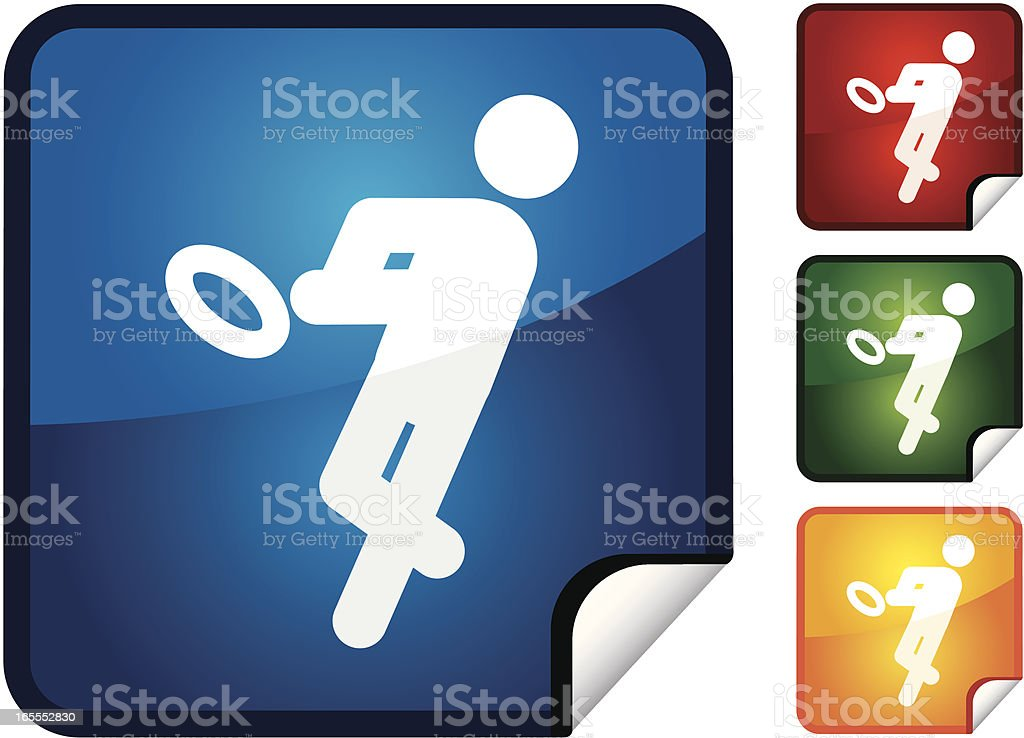 Rugby | Sticker Collection royalty-free stock vector art
