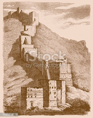 istock Ruined city walls of Antioch 1299316115