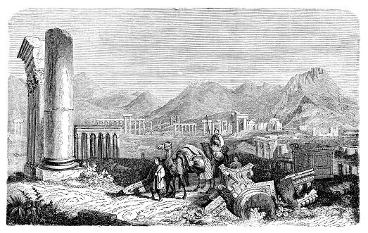 Ruins in Tadmor Palmyra Syria 1885