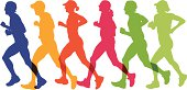 A series of multi-colored runners. Easily edited to adjust colors for individual runners.