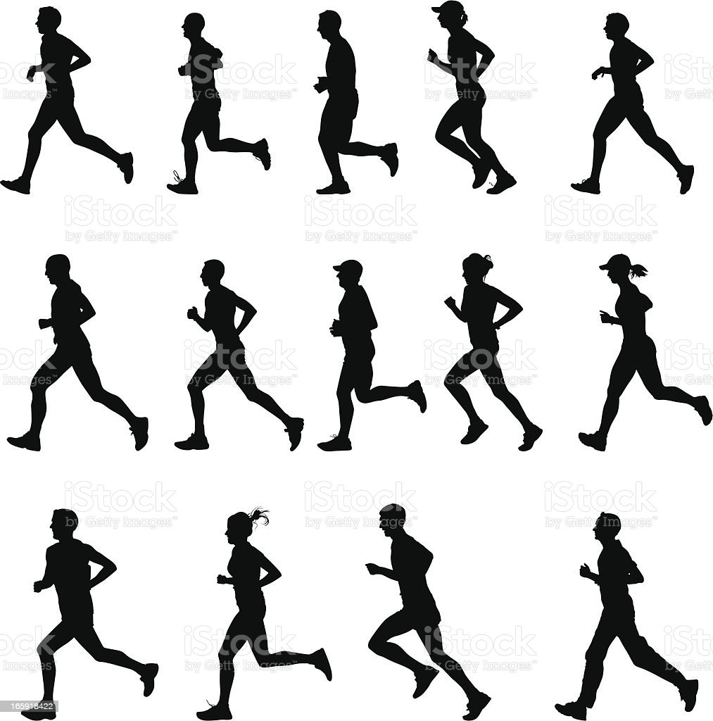 Runners vector art illustration