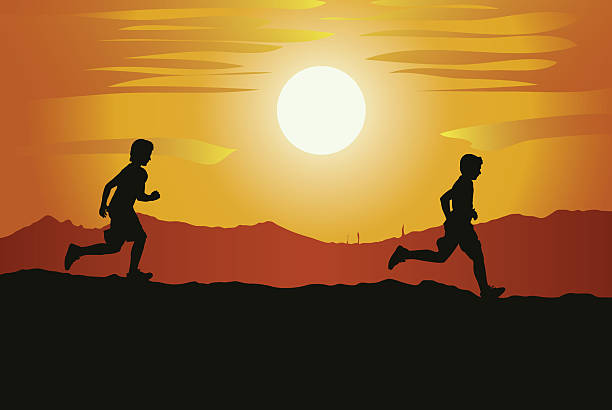 Best Cross Country Running Illustrations, Royalty-Free ...