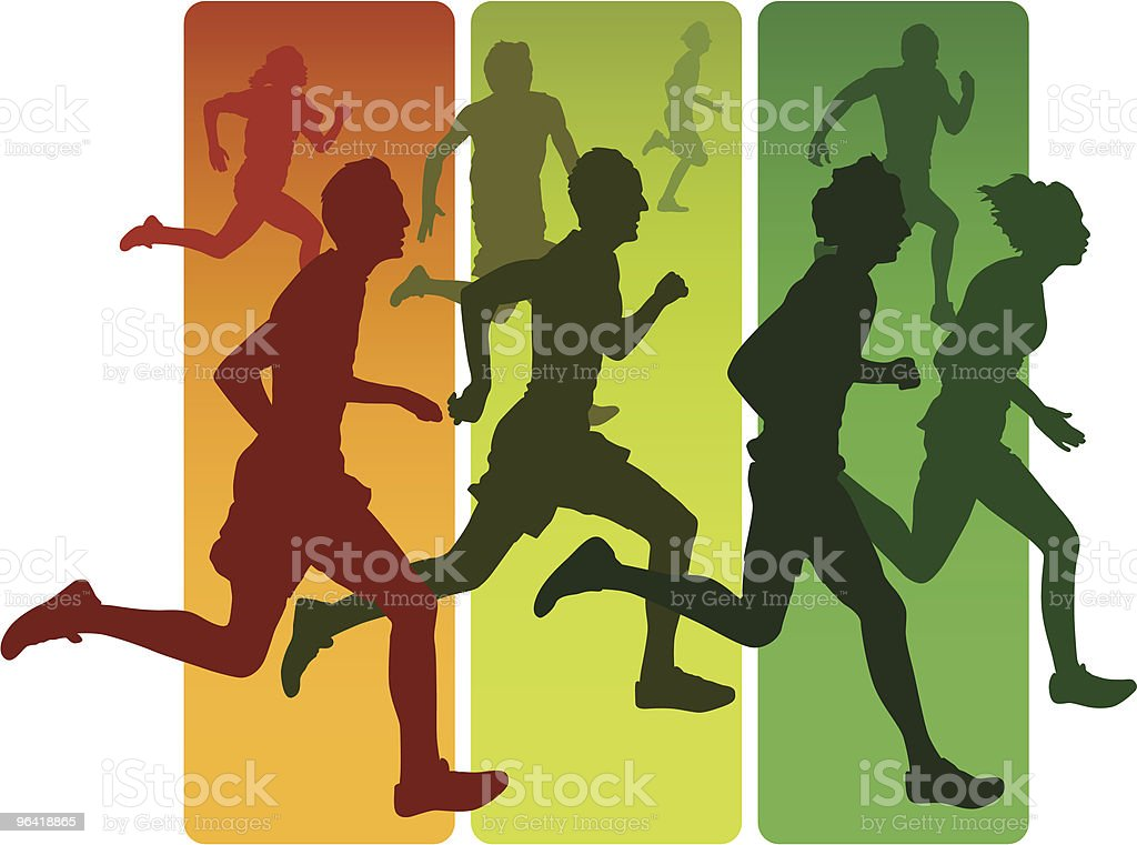 Runners royalty-free stock vector art