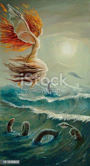 istock running along waves 161839803