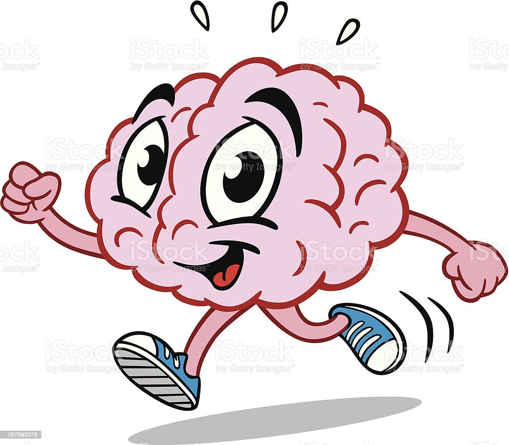 Running Brain vector art illustration