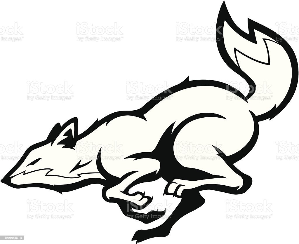 It's just an image of Delicate Running Fox Drawing