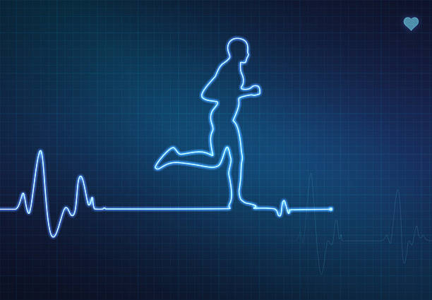 running healthy heart - sports medicine stock illustrations, clip art, cartoons, & icons