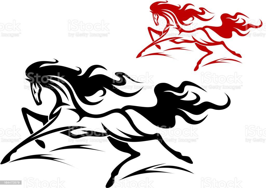 Running Horse Tattoo Stock Illustration Download Image Now Istock