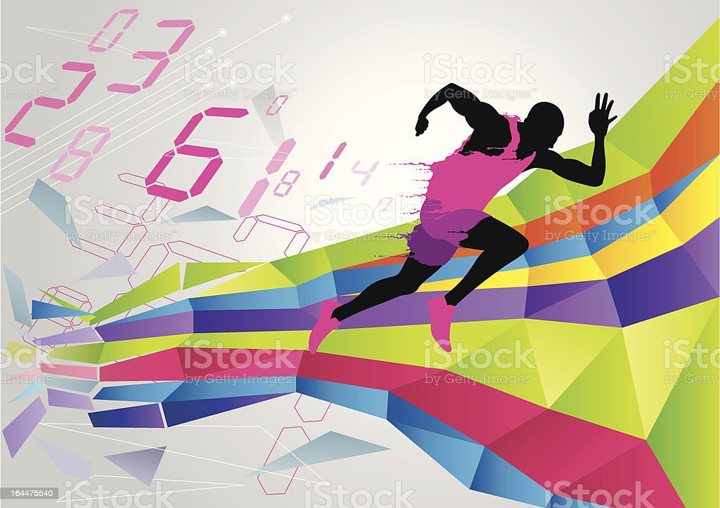 Running homme - Illustration vectorielle