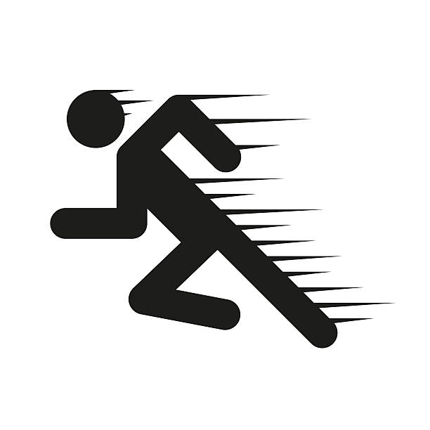 Sprinting Clip Art, Vector Images & Illustrations - iStock