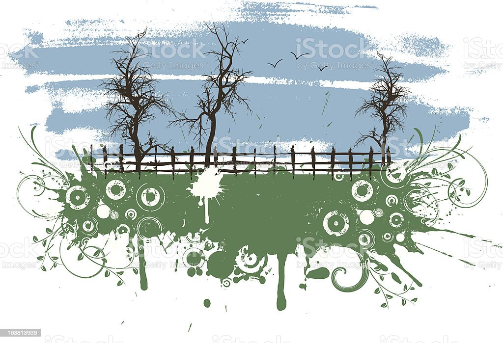 Rural grunge royalty-free stock vector art