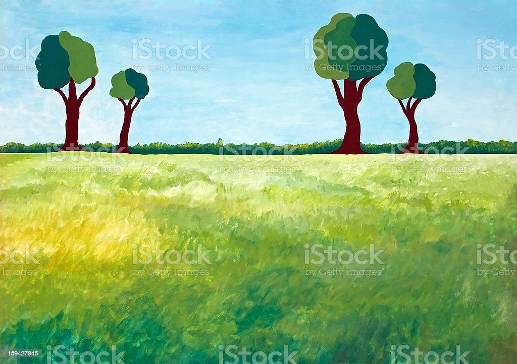 rural landscape royalty-free stock vector art