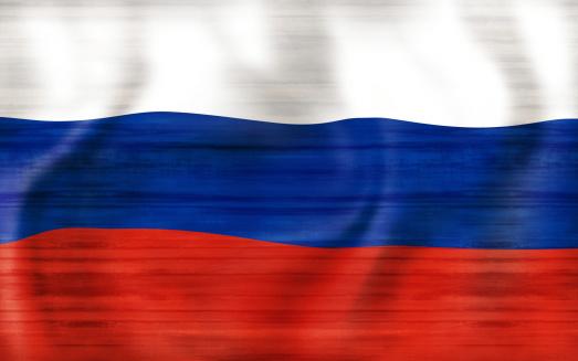 2018 Russia Flag Creative Graphic Design