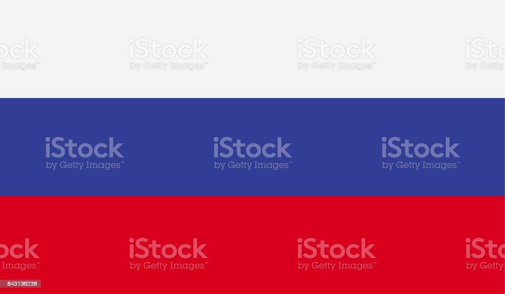 Drapeau Russie - Illustration vectorielle