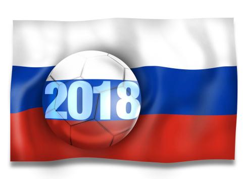 2018 Russia Football Ball Creative Flag Design Concept