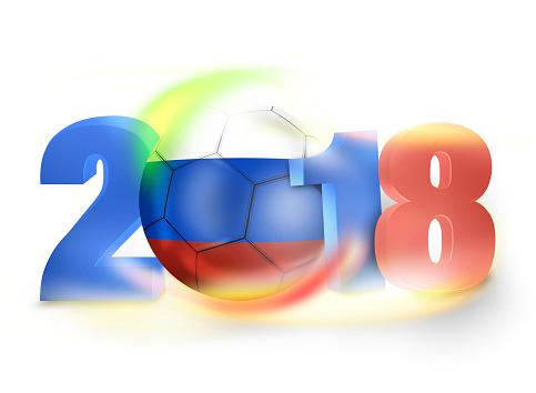 2018 Russia Football Creative Flag Color Concept