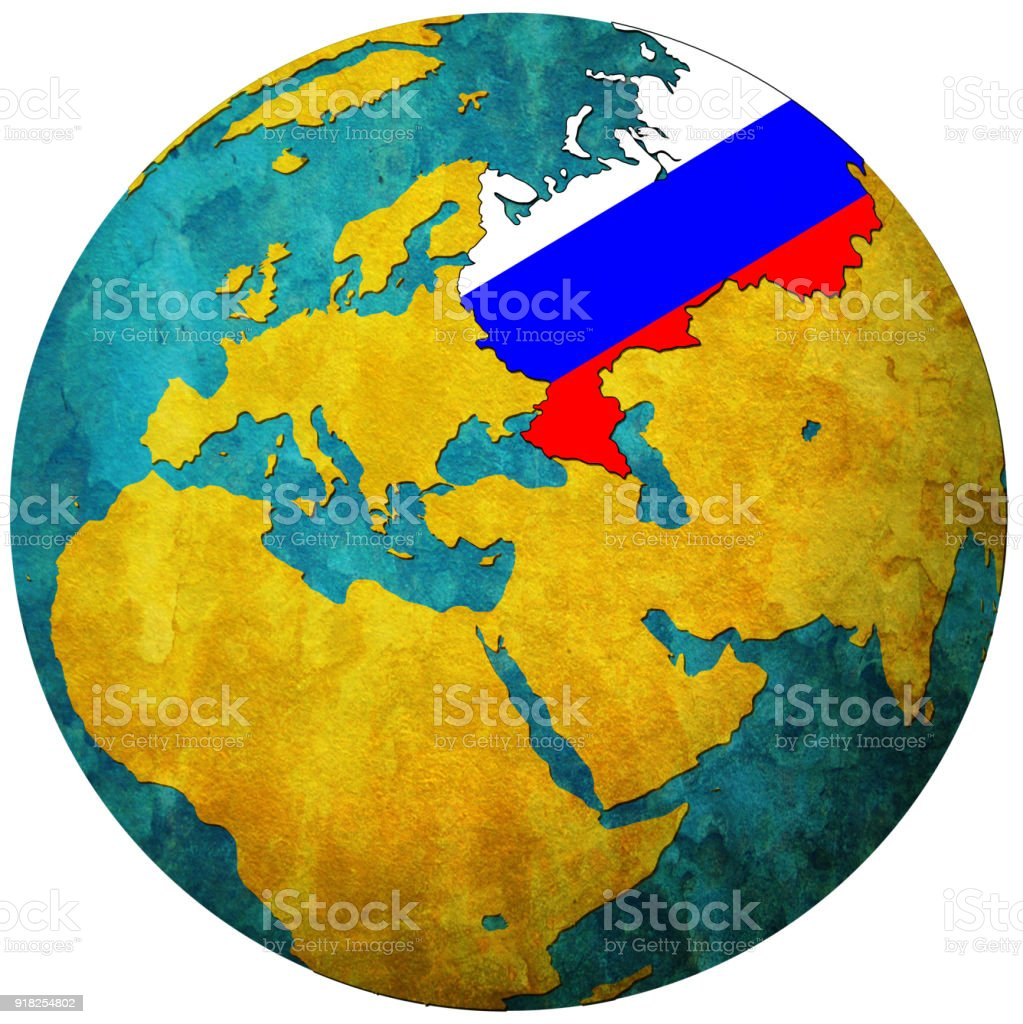 Russia territory with flag on map of globe stock vector art more russia territory with flag on map of globe royalty free russia territory with flag on gumiabroncs Choice Image