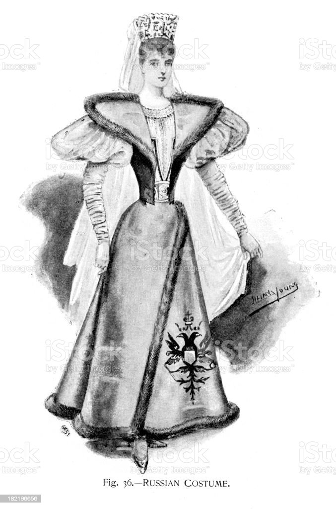 Russian Costume royalty-free russian costume stock vector art & more images of 19th century
