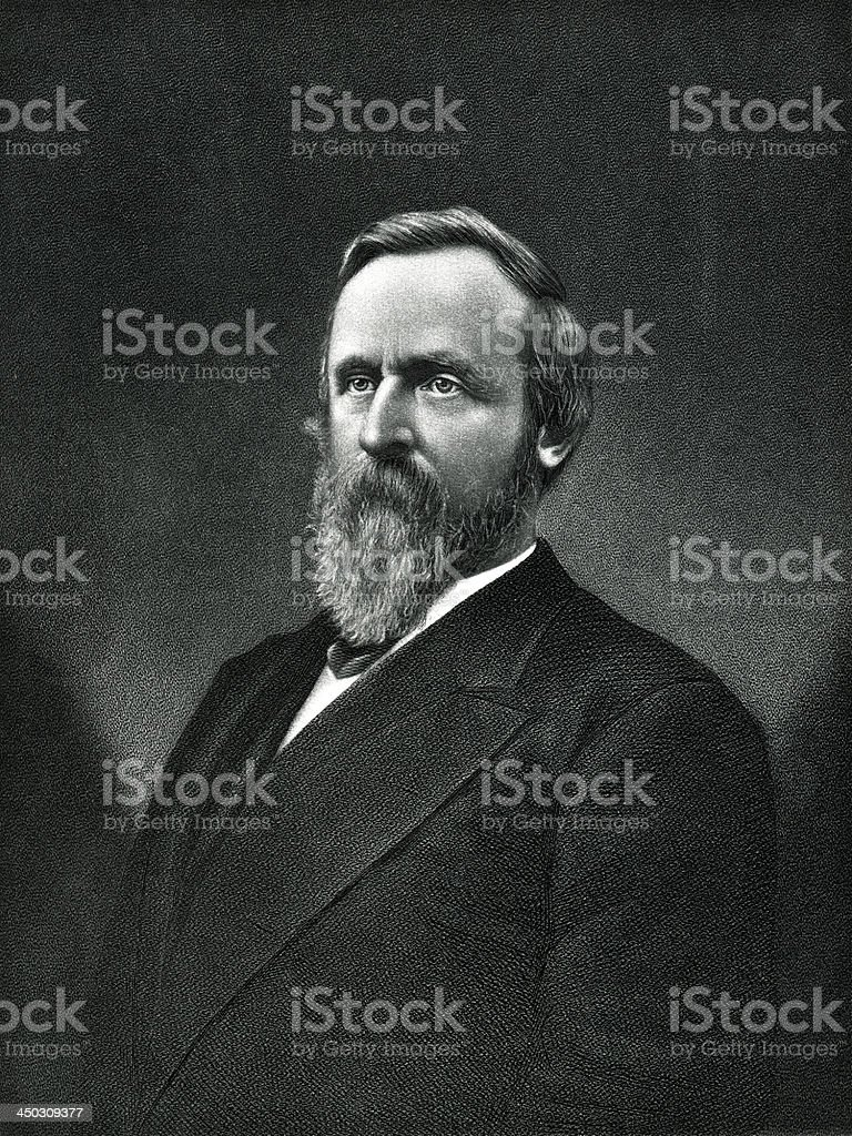 Rutherford B. Hayes vector art illustration