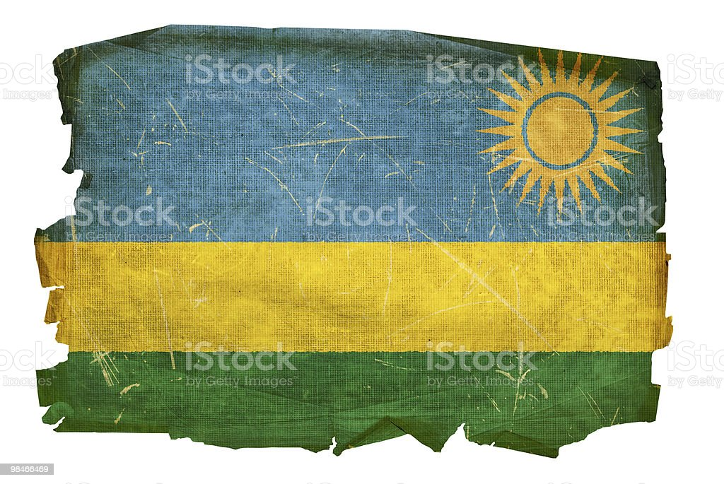 Rwandan flag old, isolated on white background royalty-free rwandan flag old isolated on white background stock vector art & more images of aging process