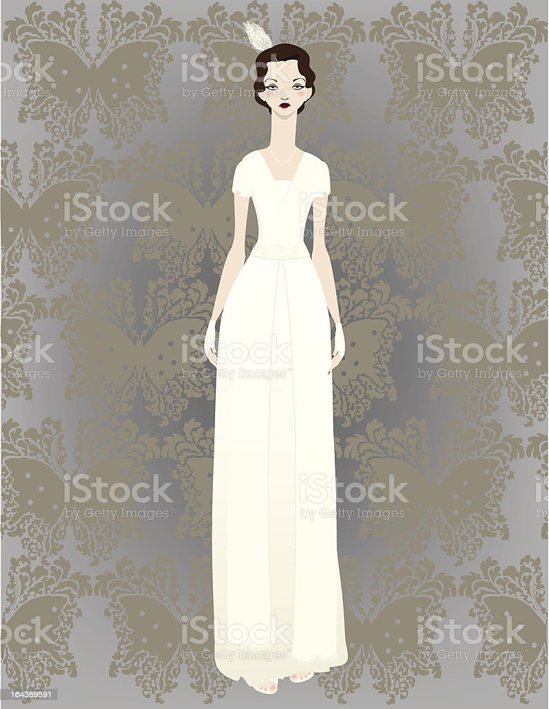 1940's Bride royalty-free 1940s bride stock vector art & more images of 1930-1939