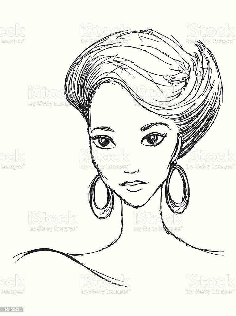 80's Lady royalty-free stock vector art