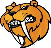 mascot style sabertooth tiger