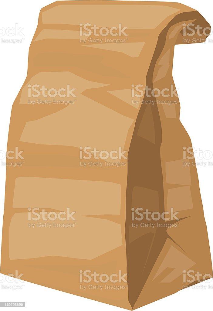 sack lunch vector art illustration