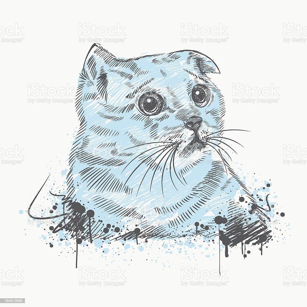 Sad cat royalty-free sad cat stock vector art & more images of animal
