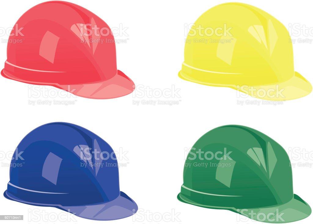 Safety Helments royalty-free stock vector art