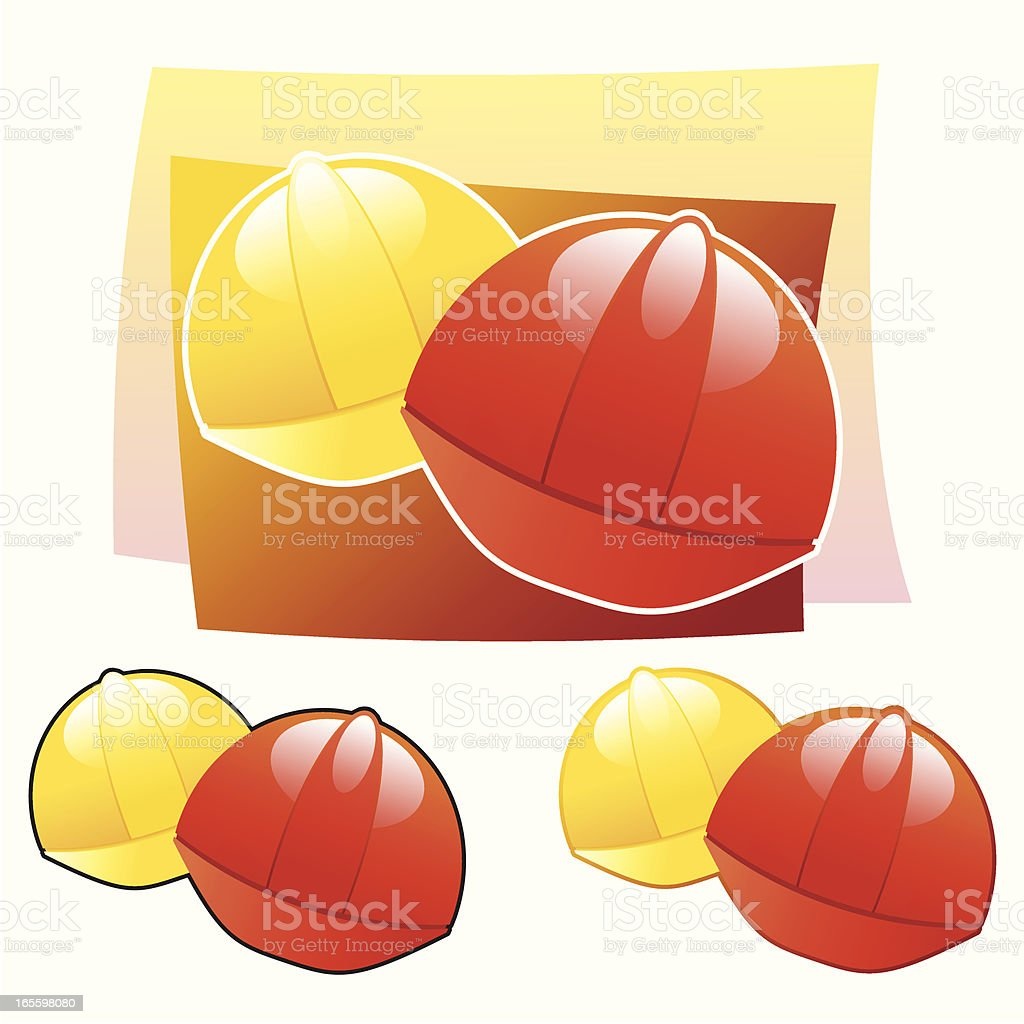 Safety helmets royalty-free safety helmets stock vector art & more images of cut out