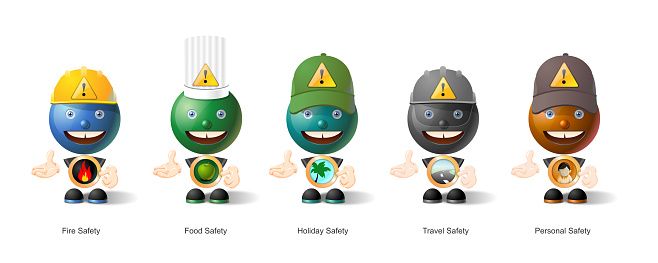 Safety Mascot, characters