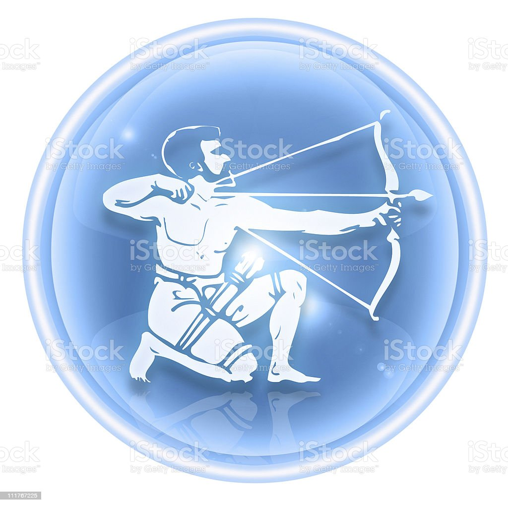 Sagittarius zodiac icon ice, isolated on white background. royalty-free sagittarius zodiac icon ice isolated on white background stock vector art & more images of astrology