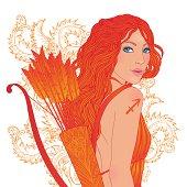 Sagittarius zodiac sign as a beautiful girl