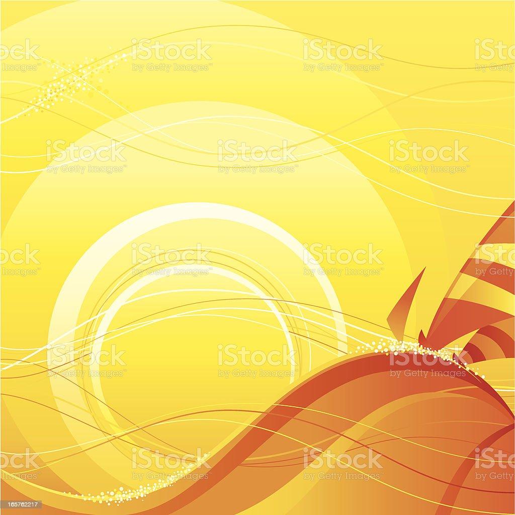 Sailing at Sunset royalty-free stock vector art