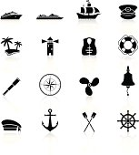 Sailing and nautical icons for your website with reflections. The reflections underneath were created using linear gradients. Each element is set on a different layer and is very easy for you to use and modify this elements.