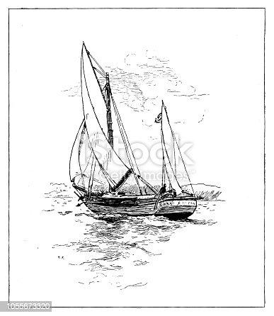 Sailing - Scanned 1899 Engraving