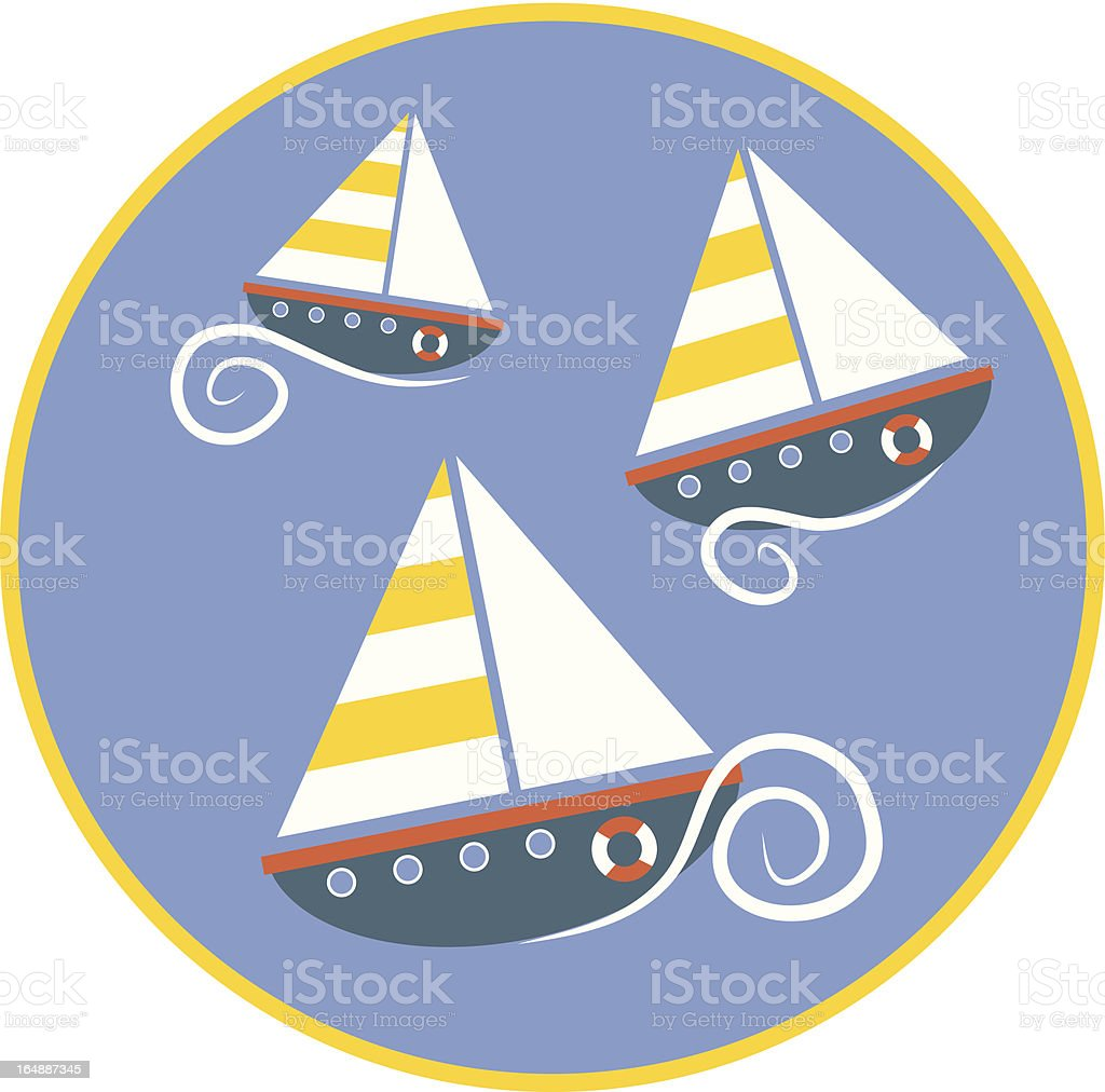 Navigation à voile - Illustration vectorielle