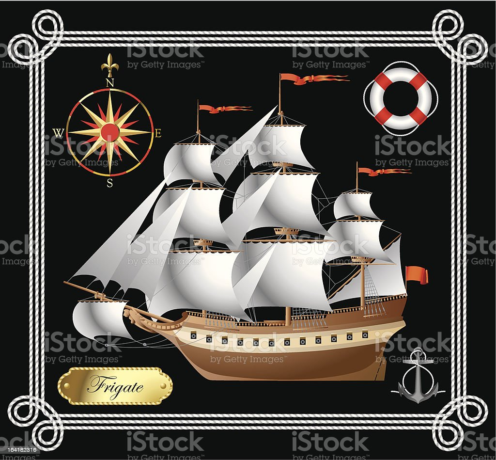 Sailing vessel royalty-free sailing vessel stock vector art & more images of anchor - vessel part