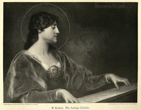 Saint Cecilia, patron of music and musicians