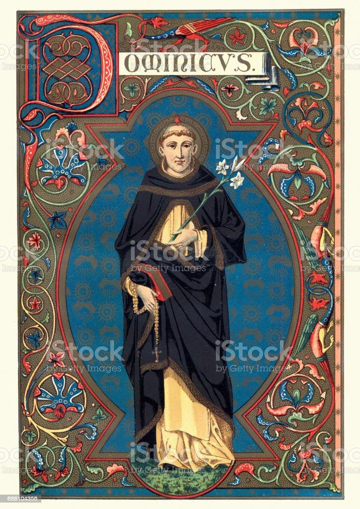 Saint Dominic - ilustración de arte vectorial